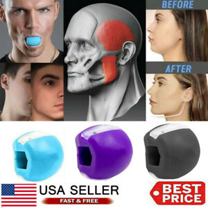 Jaw line Facial Toner & Exerciser  Trainer  Fitness Ball Neck Face Toning Jaw US