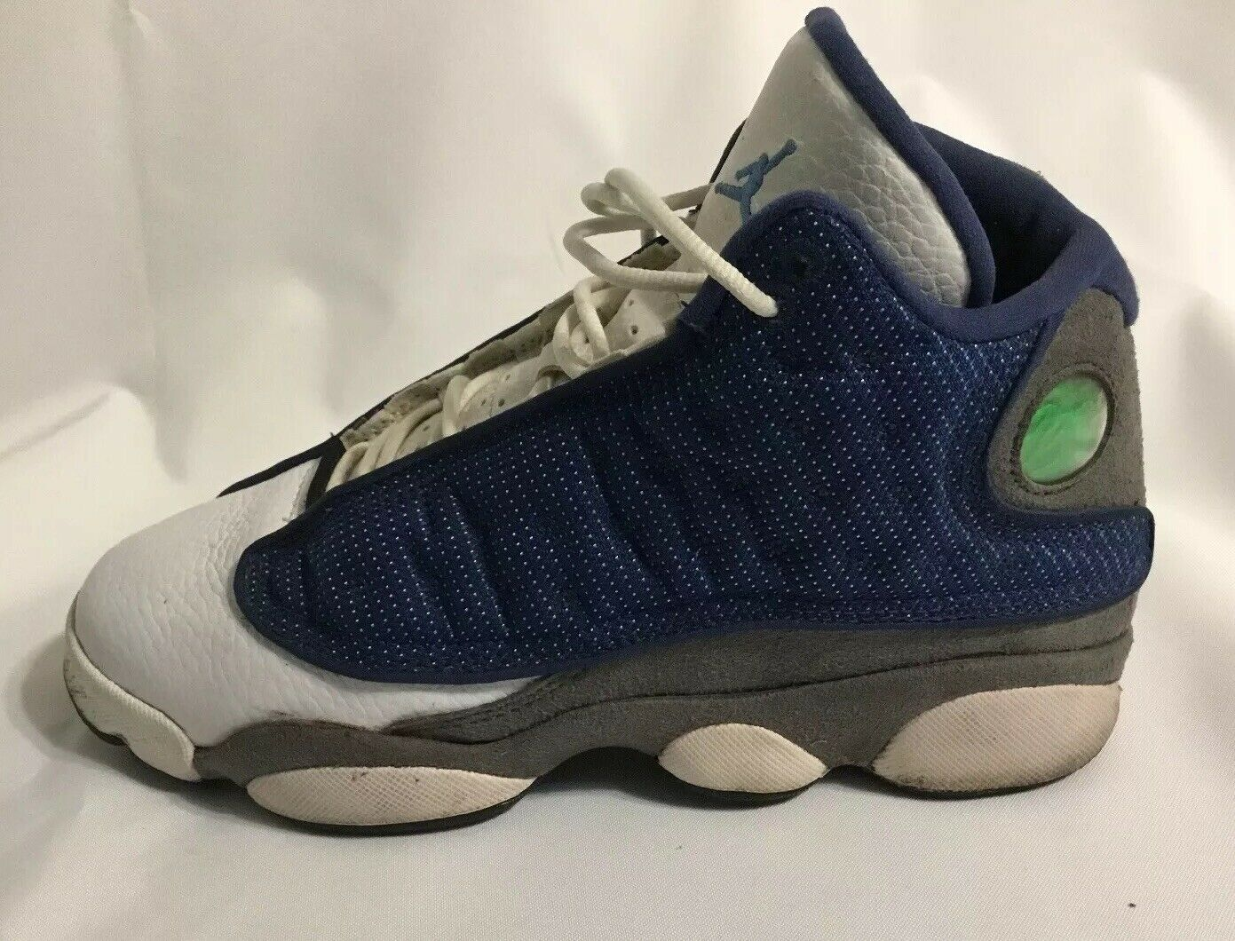 2010 Air Jordan XIII 13 Retro Flint Size 6Y Reflective 3M Playoff White And bluee