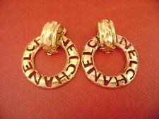 Chanel vintage CC logo 2 ways dangle clips earrings