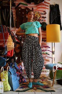 Shirt Top Top Pancia Libera Cotone Lurex Ananas Palma 80er True Vintage 80s-mostra Il Titolo Originale