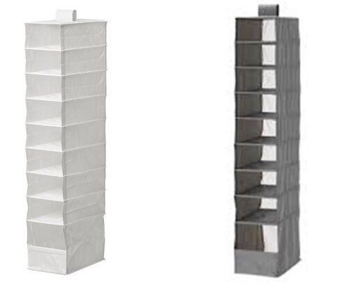 Ikea Skubb suspendu 9 compartiments Chaussure Organisateur Boîtes de rangement armoire NEUF