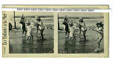 (73/30) Ed. Paris stéréo Photo Les Enfants à la Mer  81-3657