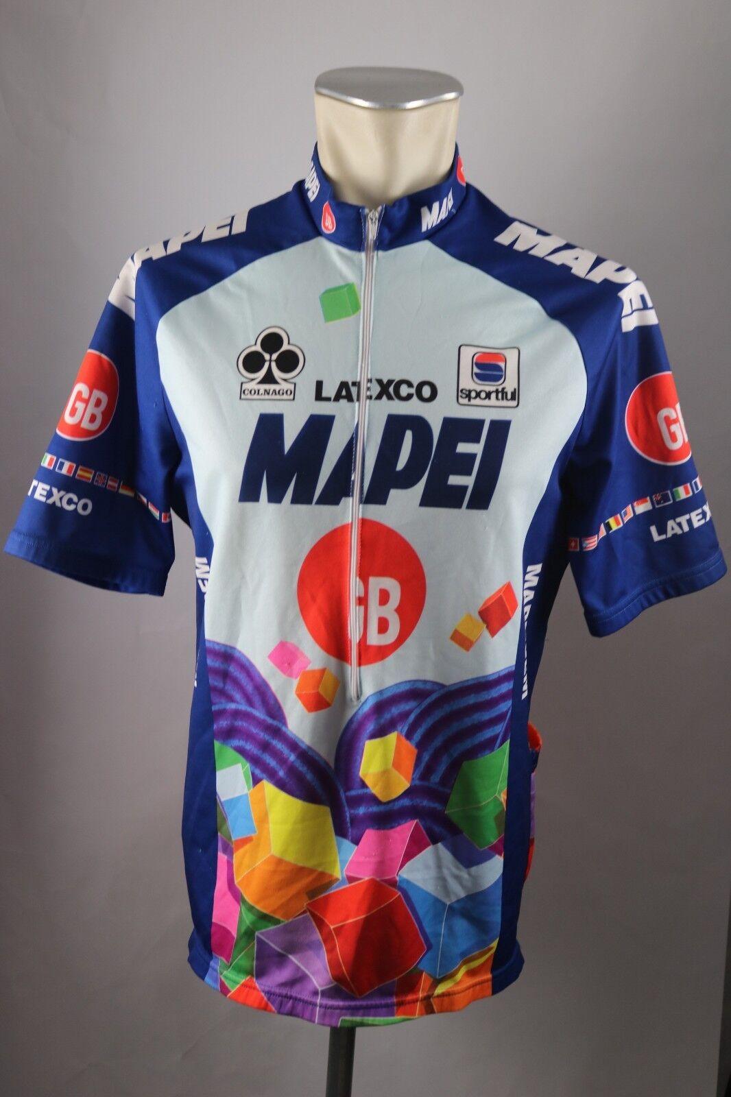 Colnago  Latexco Mapei GB Team Trikot ca. L -  XL BW 56cm Bike cycling jersey S5  exclusive designs