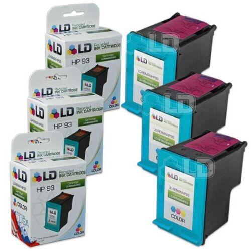 3 Pack LD /© Reman Replacement Ink Cartridges HP C9361WN HP 93 Tri-Color