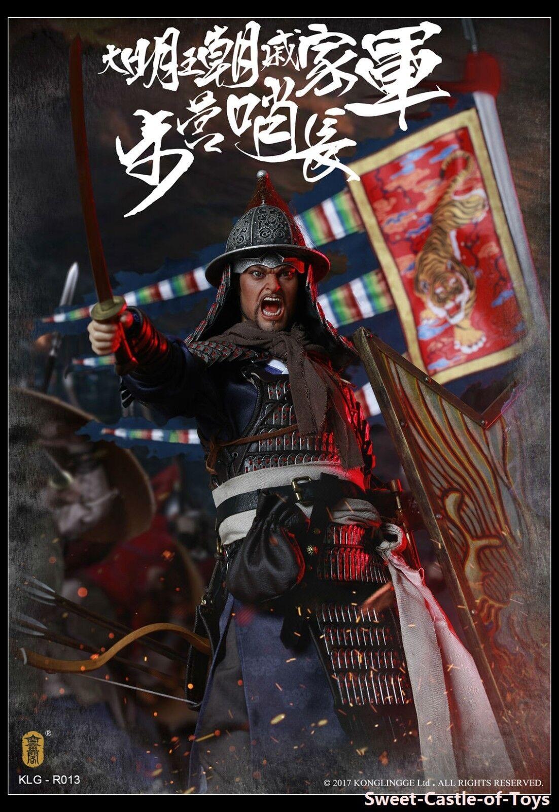 1 6 Kong Ling Ge Ming Dynasty Qi Troop Walk Camp Guard Leader KLG-R013 KongLing