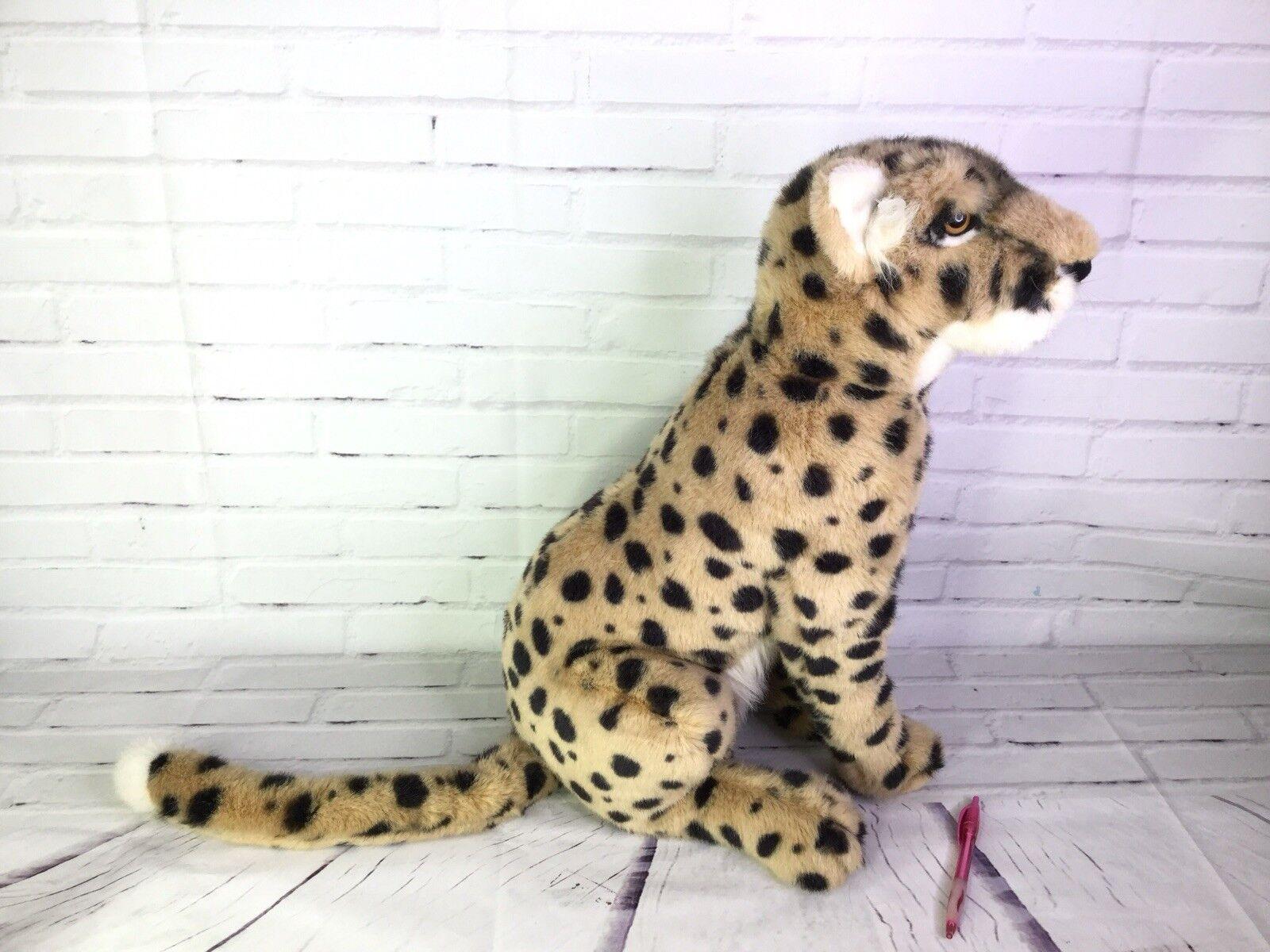 Vintage 1989 Wildlife Applause WWF Wildlife 1989 Cheetah Large Cat Plush Stuffed Animal RARE b017bc