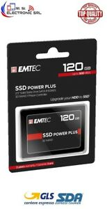 Emtec X120 Power Plus SSD 2,5  HardDisk 120GB interno 520MB/s lettura 500MB/s sc