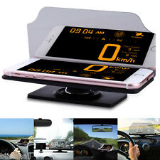 EHEAR Car HUD Head Up Display Projector Reflector Phone Navigation GPS Holder US