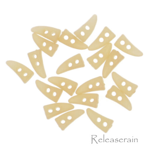 Releaserain 10mm Doll Clothes Sewing Sew On Miniature Acrylic Toggle Buttons 20p