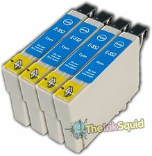 4 Cyan T0552 non-OEM Ink Cartridge For Epson Stylus Photo RX420 RX425 RX520
