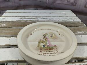 Royal-doulton-Queen-of-hearts-nursery-rhymes-baby-plate-vintage-antique