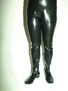 Black Red Latex Rubber Waders Boots Pants Size 4 12 Heels