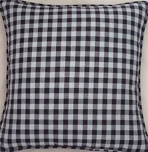 A-16-Inch-cushion-cover-In-Laura-Ashley-gingham-duck-egg-Charcoal-fabric