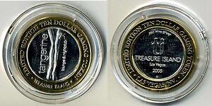 Treasure-Island-Ten-Dollar-10-Gaming-Token-999-pure-silver-w-gold-tone-edging