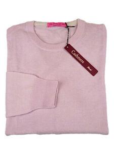 M L XL Scollo V Rosso Cashmere Cotone Made in Italy Maglia Pullover uomo tg