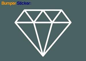 Diamond-Bumper-Window-Car-Sticker-JDM-WHITE-VINYL-DECAL-HIGH-QUALITY