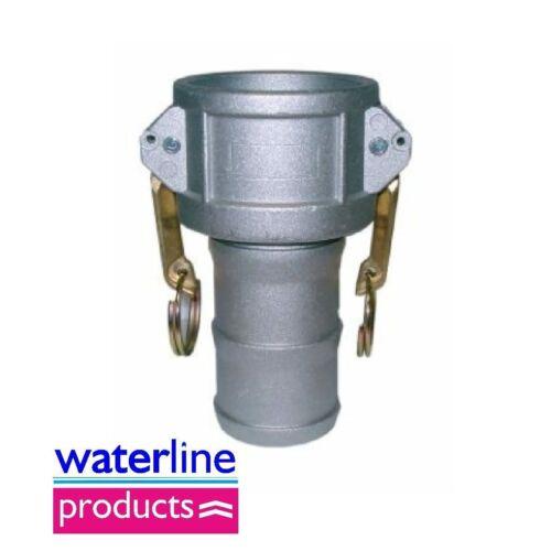 FEMMINA X TUBO DI CODA Tipo C Alluminio CAMLOCK Accoppiatore CAM /& Grove Accoppiamento