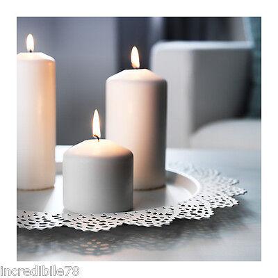 IKEA SKURAR Base per candela, bianco 37 cm