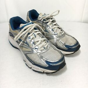 c93d5abc75be0 Brooks Adrenaline GTS 9 Women s 7.5 Silver Blue Lace Up Running ...