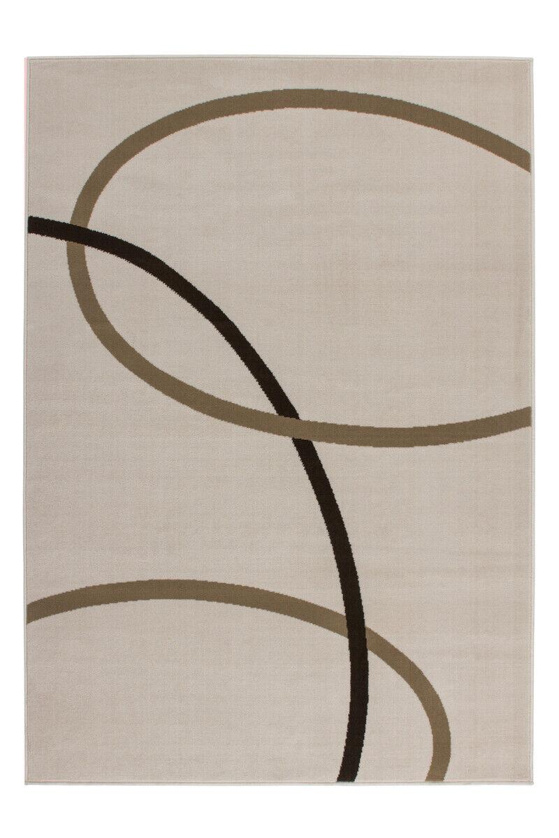 Conveniente tappeti moderni strisce design piatto Flor dell'avorio molte dimensioni