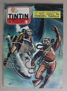 journal Tintin hebdomadaire - 10e année n° 8 - 1955