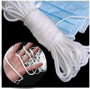 3mm 1 8 Round Elastic Cord Ear Hanging Tapes Sewing For Face Masks 10 500yd Ebay