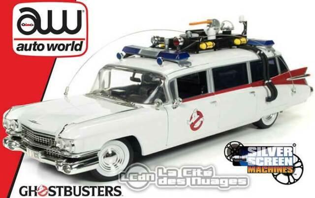 Ghostbusters 1959 Cadillac Eldorado Ecto-1 Slimer Auto World AWSS118 1/18 SALE !