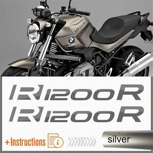 2x R1200r Silver Bmw Serbatoio Adesivi Pegatina R 1200 R Autocollant Aufkleber Doux Et LéGer