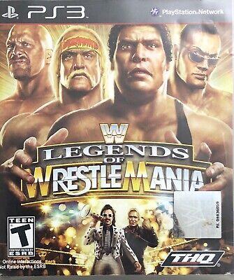 Wwe Legends Of Wrestlemania Ps3 752919990568 Ebay