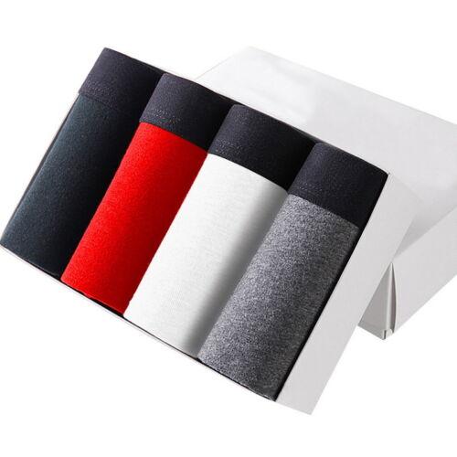 4Pcs Herren Unterhose Unterwäsche Underpants Komfortable Boxershorts Trunks 3XL