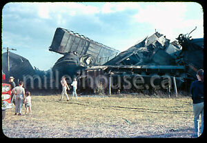 1959-CN-Canadian-National-Railway-Train-Derailment-Udney-ON-35mm-Private-Slide