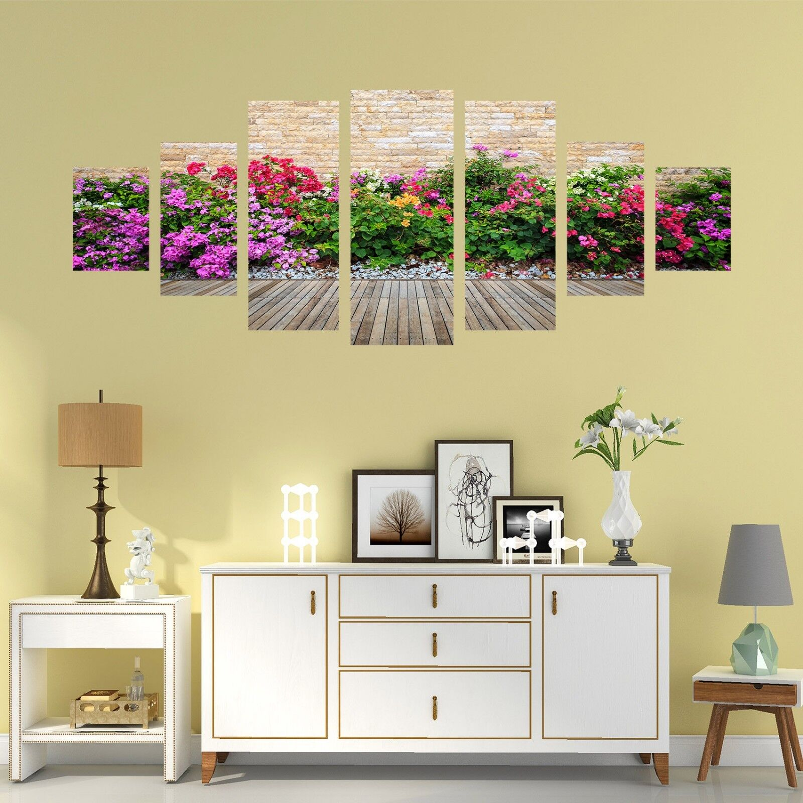 3D color Flowers 6457 Unframed Print Wall Paper Decal Wall Deco Indoor AJ Wall