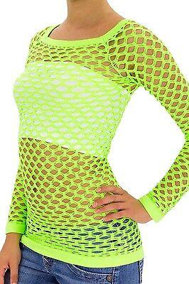 Women's Nylon Fishnet Long Sleeve Blouse Top Cover Up - U.S. Juniors