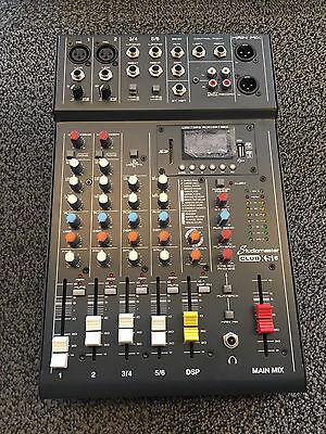 Studiomaster Club XS 6 - 6 input mixer with USB/SD Card Media player - Bluetooth