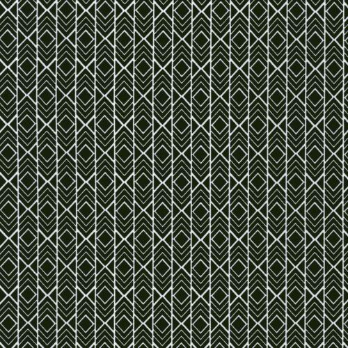 Fabric Chevron Diamonds Pond White Tribal on Black Cotton 1//4 Yard Box C