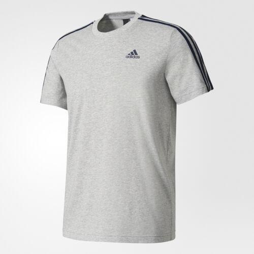 Gris Stripes du Casual ras encolure Tee 3s Mens Gym 3 shirt T à Adidas Ess Top cou shirt 4A35LRj