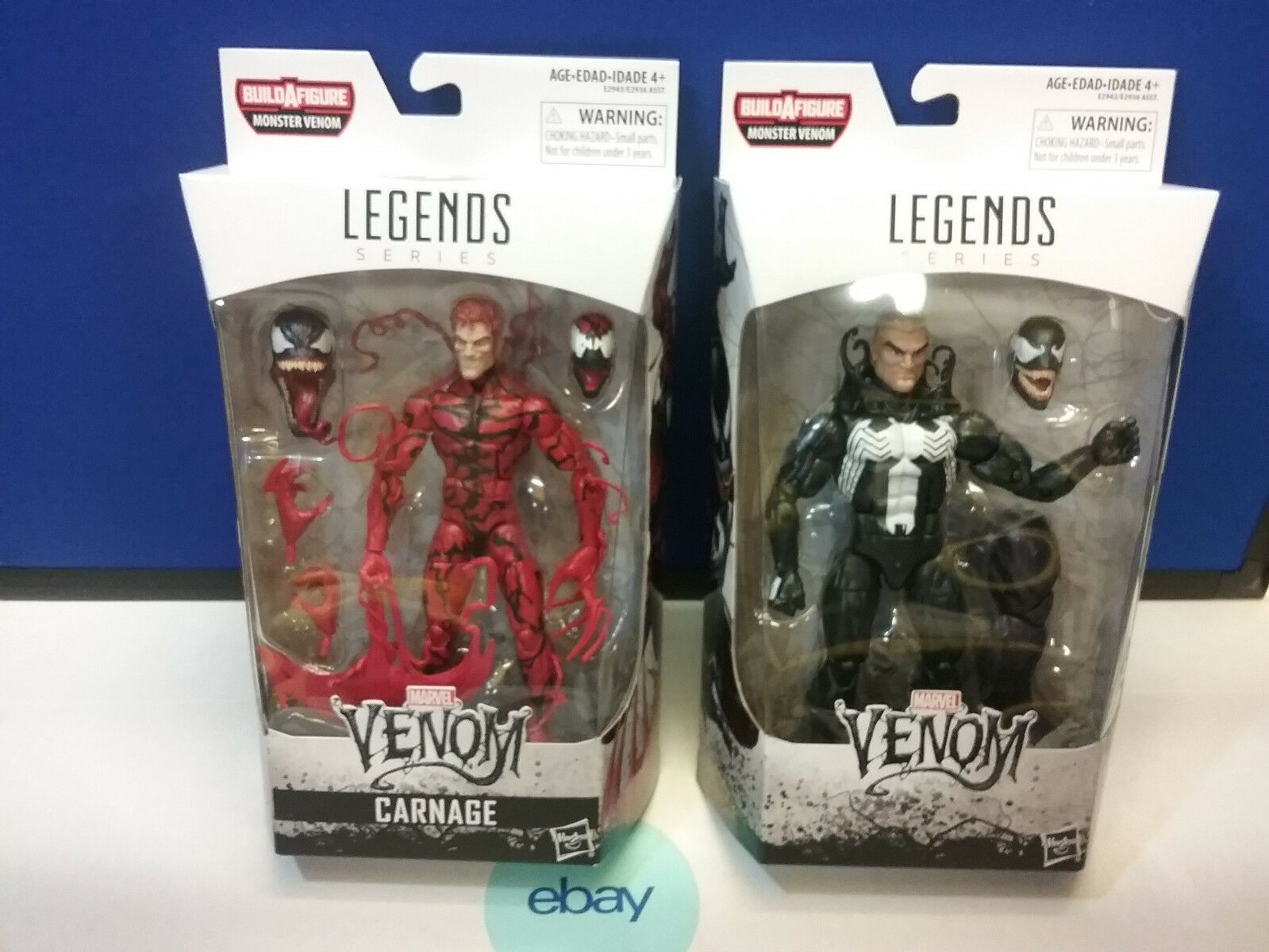 Marvel Legends Carnarge & Venom BAF SET of 2  New