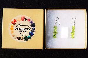 CHARGED-Peridot-Crystal-Chip-Earrings-REIKI-Energy-ZENERGY-GEMS