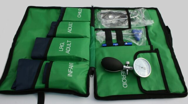 Blood Pressure Kit 5 Cuffs included! Paramedic Bag (G) Aneroid Sphygmomanometer