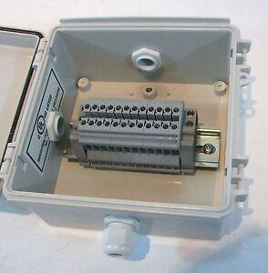 Electrical Junction Box with Terminal Blocks - Waterproof Enclosure