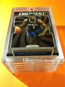 Zion-Williamson-PANINI-PRIZM-HOT-ROOKIE-2019-20-EMERGENT-INSERT-RC-7-Mint