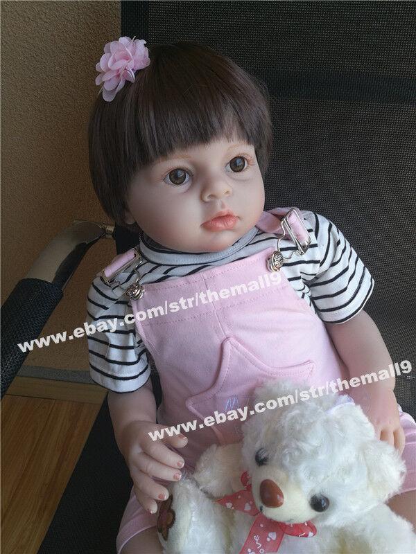 28  muñecas reborn niño niña hecho a Mano Mano Mano Muñeca Silicona Vinilo realista 70cm  Con precio barato para obtener la mejor marca.