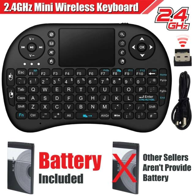8adfaf13921 Mini Wireless Keyboard Touchpad for PC Raspberry Pi 2 Xbox 360 Ps3 Android  TV