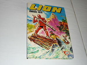 1976 Lion Comic Book Annual hardback Robot Archie Adam Eterno WW2 Spitfire WWII - <span itemprop='availableAtOrFrom'>Jersey, United Kingdom</span> - 1976 Lion Comic Book Annual hardback Robot Archie Adam Eterno WW2 Spitfire WWII - Jersey, United Kingdom