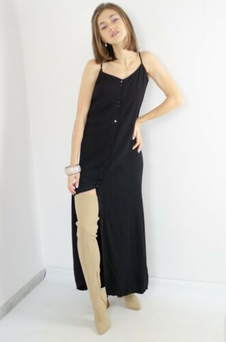 Sessun Combination Black Maxi Fong Dress With Butt