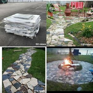 Details about Granite Marble Countertop Scraps For Outdoor Fireplace,  Walkways, Gardens