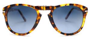 b1a97ac023 Image is loading Persol-714-Sunglasses-Folding-1052S3-Blue-Polarized-Light-