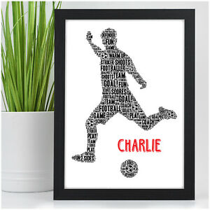 Christmas Gifts For Boys.Details About Personalised Birthday Christmas Gifts For Boys Footballer Football Present
