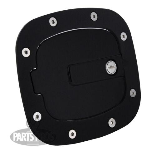 NEW Gloss Black Locking Gas Fuel Door FOR TOYOTA FJ CRUISER 2007-2014