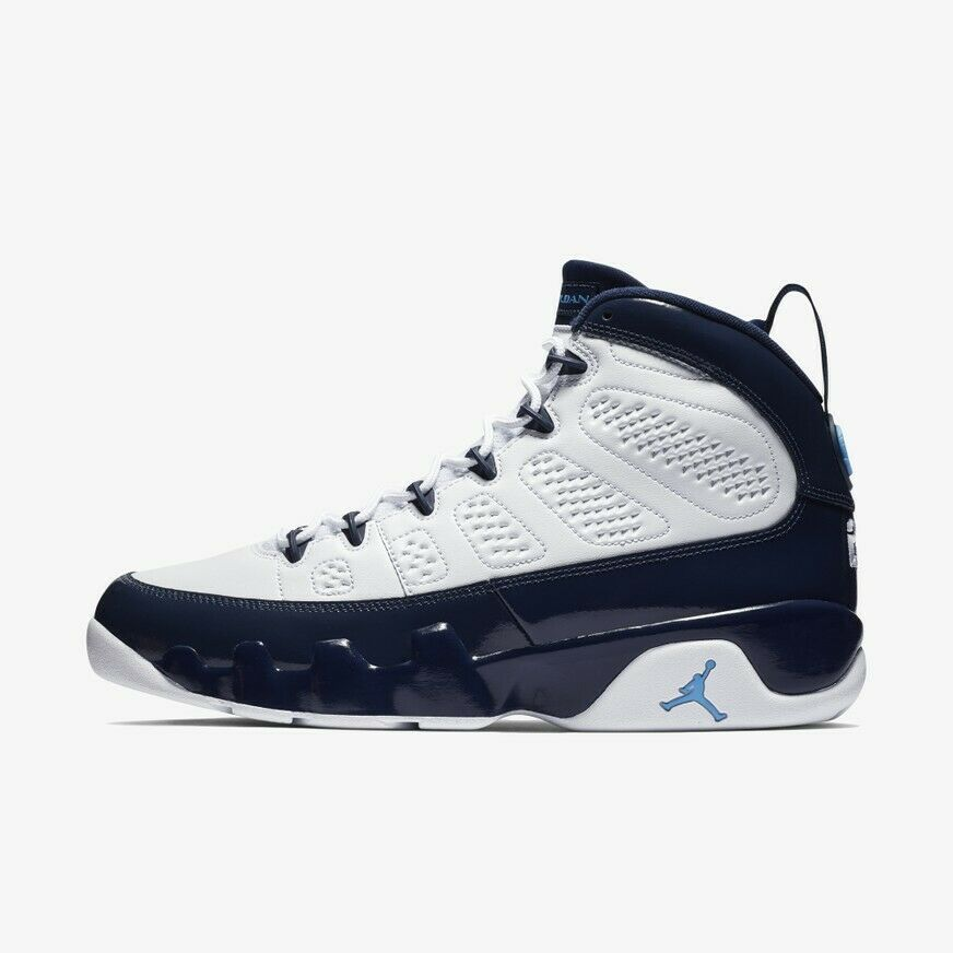 80c5e66ee4 Nike Air Jordan Retro IX 9 UNC bluee Pearl Midnight Navy 302370-145 Size 5